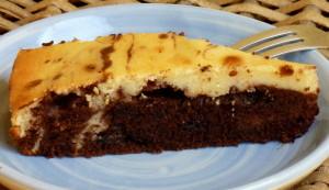 márványos brownie szelet
