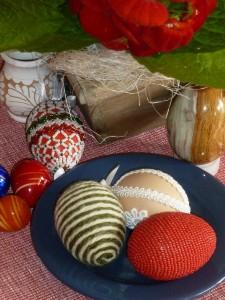saját készítésű húsvéti tojások